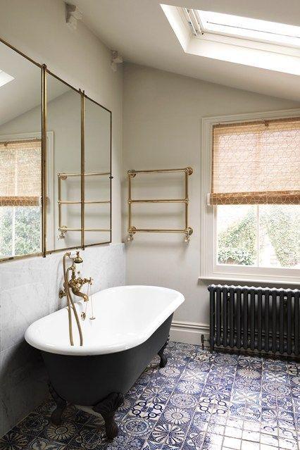 Bathroom Floor Tiles Moroccan Flooring Ideas Pictures Houseandgarden Co Uk In 2020 Moroccan Bathroom Victorian Bathroom Bathroom Design