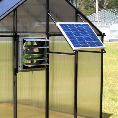 Monticello 8 Ft W X 16 Ft D Hobby Greenhouse Solar Heating Solar Panels Best Solar Panels