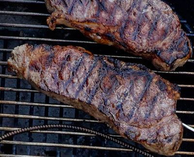 Check This George Foreman Grilled New York Strip Steak Recipe So You Can Make Delicious Steak With Prope Strip Steak Recipe Grilled Steak Recipes Steak Recipes