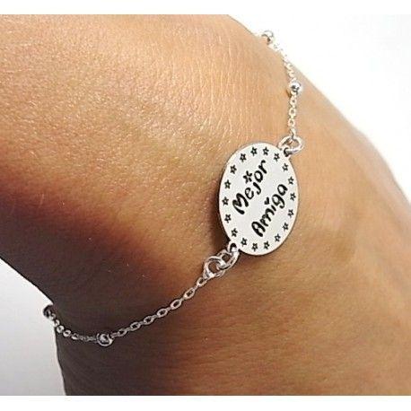 Lo último Moda 925 plata pulsera con dijes joyas regalo de la cadena de corazón rojo