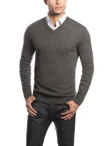 Yorkshire 100% Merino Wool V-Neck Sweater Orange - Bonobos | Love ...
