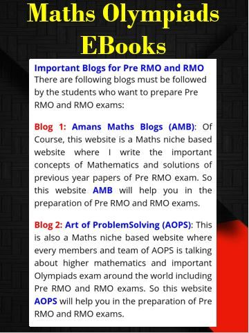 Pre Rmo And Rmo 2019 With Images Math Blog