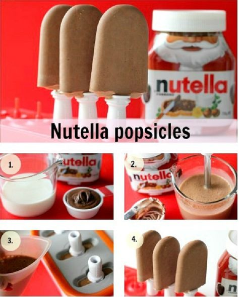 Nutella Popsicles Recipe Pinned by: www.spinstersguide.com