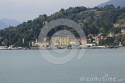 Look At Cadenabbia Town Panorama Bank Promenade In Lake Como In Italy Comer See Bilder See