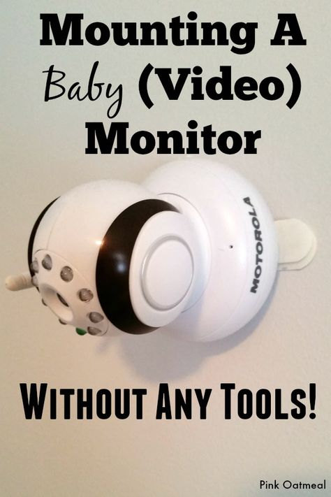 We are NOT handy people at this house. Putting together anythingusually ends up lasting an entire day, generally with a fight. So, when we got to thepoint where we needed to mount ourbaby monitor (video), I was on the search for an easy solution. Preferably one that did not involve tools. We considered stacking up …