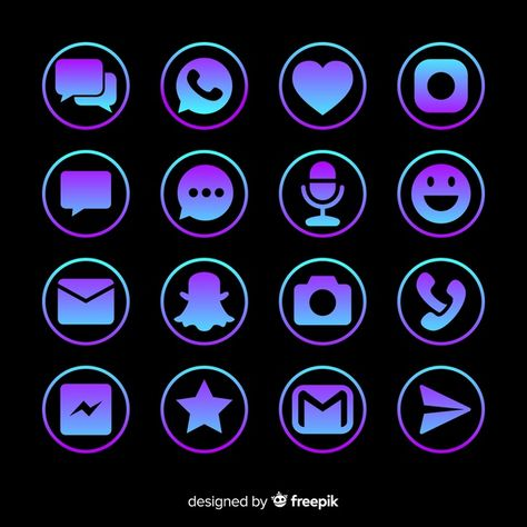 Social media logo collection Free Vector | Free Vector #Freepik #vector #freelogo #freeheart #freetechnology #freecamera Iphone Backgrounds Nature, Iphone Background Wallpaper, Aesthetic Iphone Wallpaper, Print Advertising, Advertising Campaign, Print Ads, Neon Symbol, Mobile Icon, Ios Icon