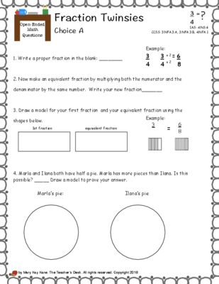 Open Ended Math Questions Grades 3 5 Number Forms And