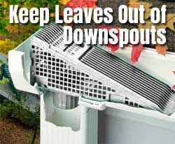 2 Ways To Install A Downspout Gutter Guard Wedge Or Strainer In 2020 Downspout Gutter Guard How To Install Gutters