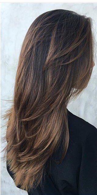Haarschnitt Fur Damen Langes Haar Cortes De Cabello Haarschnitt