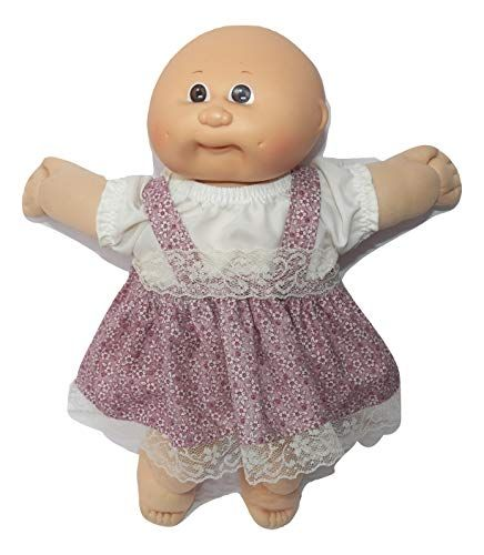 Cabbage Patch Doll Clothes Fits 14 Inch Girl or Preemie Brown Dress