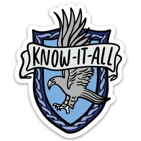 HP Ravenclaw Know It All Sticker