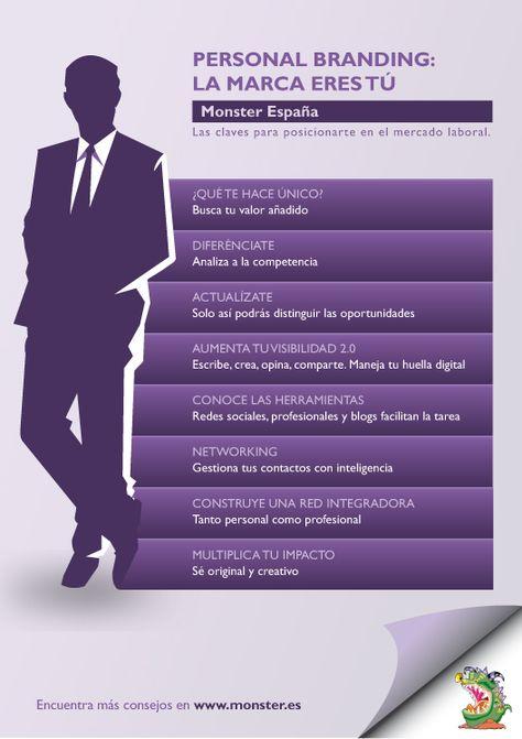 Personal branding: la marca eres tú #infografia #infographic #marketing - TICs y Formación