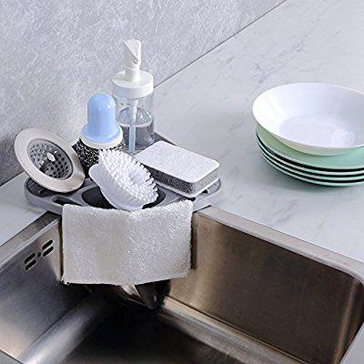 kitchen sink caddy sponge holder