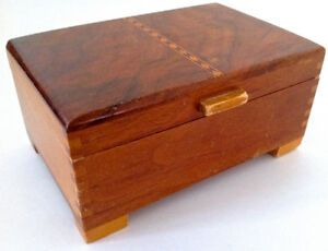 Vintage Collection Petit Coffre En Bois Avec Marquetterie L Decorative Boxes Storage Antiques