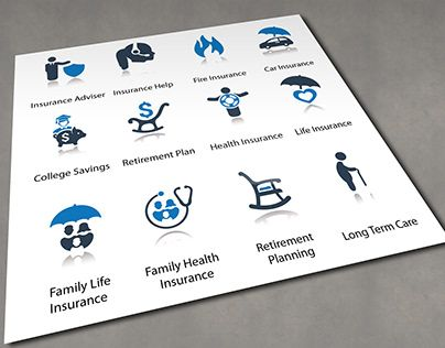 Insurance Icons Auto Insurance Briefcase Business Insurance Car