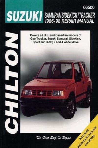 1998 Suzuki Samurai Sidekick And Tracker 1986 98 Chilton Total Car Care Series Manuals By Chilton Cengage Learning 03 0 Suzuki Samurai Totaled Car Chilton