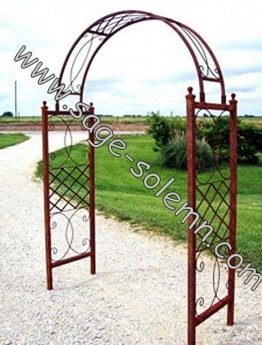 Decorative Wedding Artistic Black Metal Garden Arch Buy Garden