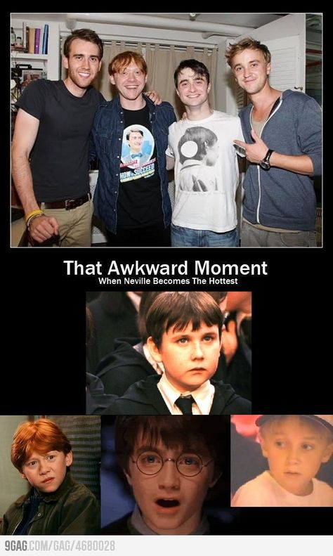 That awkward moment when Neville becomes the hottest