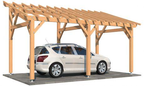 Carport Adosse Monopente En Kit Guzmania 1 Voiture Abri Bois Adosse Abri Bois Appenti Bois Carport Adosse