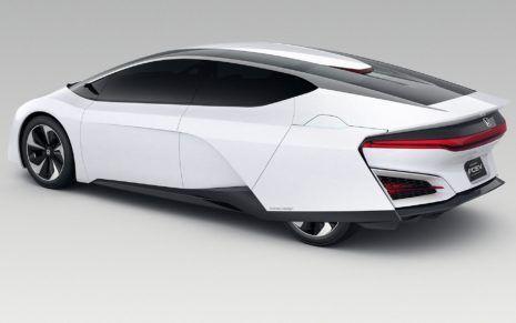 Honda Car Model Fcv Standing On White Background Hd Wallpaper