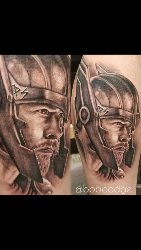 tattoolife Portrait of Thor done on 93.3...