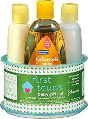 Amazon Com Johnson S First Touch Gift Set 4 Items Health Personal Care Baby Gift Sets Baby Skin Care Baby Magic