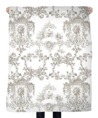 tissu voilage deco motif toile de jouy