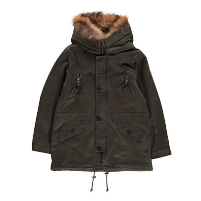 Blonde No 8 Aspen Fur Lined Hooded Parka 6 Years 8 Years 10 Fabrics Cotton Twill Details With Hood Long Sleeves Flap Poc Hooded Parka Parka Fur Hood