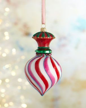 Pre Cooked Christmas Dinner From Meiman Marcus 2020 Swirl Finial Christmas Ornament in 2020   Christmas ornaments