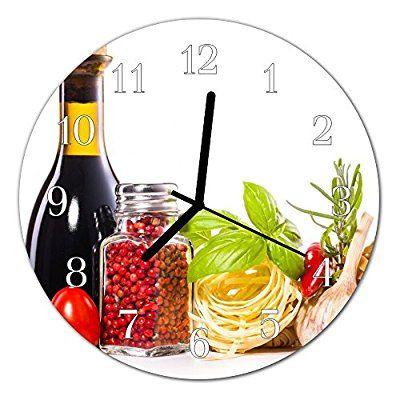 Glasuhr von DekoGlas 30cm runde Bilderuhr aus Acrylglas mit - glasbilder für die küche