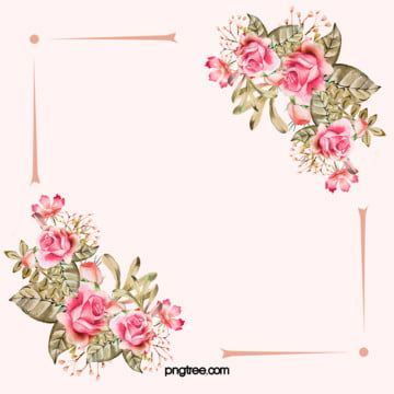 Pink Love Background Simple And Lovely Fresh Flower Background Images Flower Background Wallpaper Flower Border