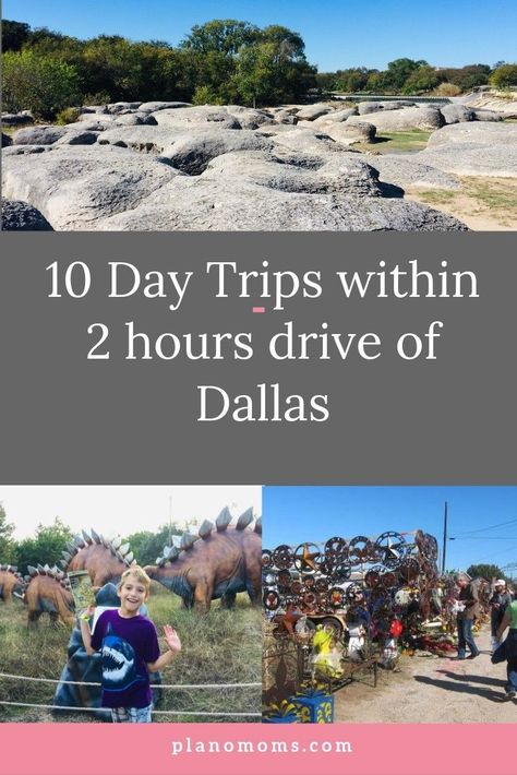 10 ideas for Day Trips to take within 2 hours drive from DFW! A hour drive for day trips from Dallas which will give you the out-of-the city adventure you're seeking and you'll be back home in time for dinner. Texas Vacation Spots, Texas Vacations, Texas Roadtrip, Texas Travel, Vacation Ideas, Dallas Travel, Family Vacations, Cruise Vacation, Disney Cruise