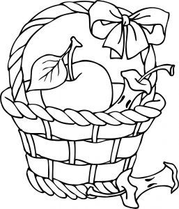 Apple Basket Clipart Pencil And Coloring Pages Page Free Printable