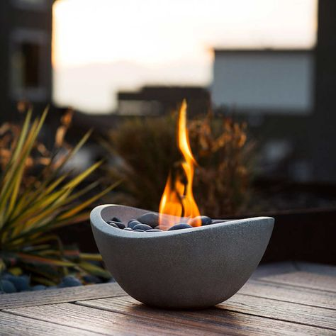 Table Top Fire Bowl With 3 Pack Gel Fuel Fire Bowls Covered Pergola Outdoor Fire