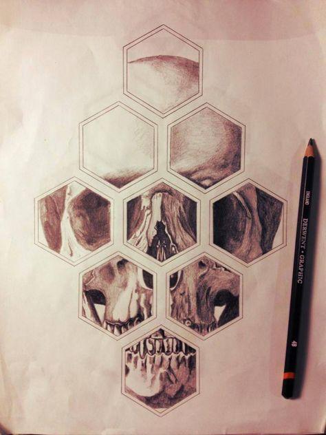 #skull #geometric #tattoo