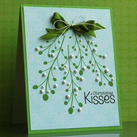 Handmade Christmas Card.  Super cute and simple.