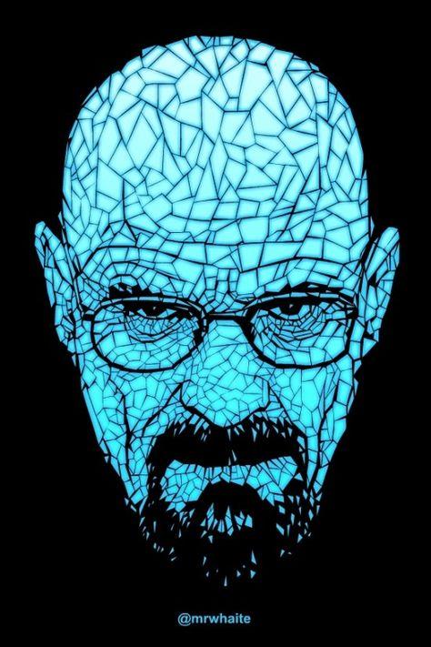 Mr Whaite S Portrait Of Walter White From Breaking Bad Breaking Bad Heisenberg Breaking Bad Art