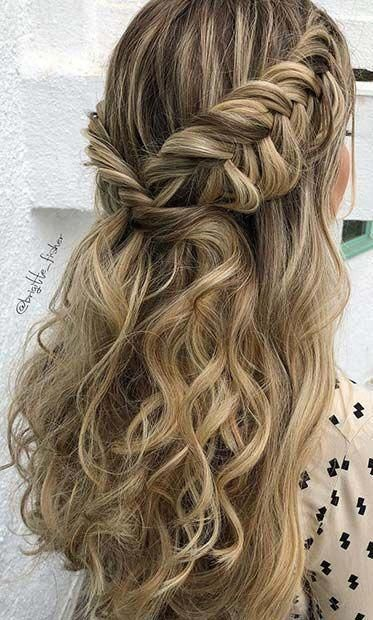 10 Homecoming Hairstyles Ideas Half Up Half Down Prom Hairstyles Ideas In 2020 Hair Styles Homecoming Hairstyles Fishtail Hairstyles