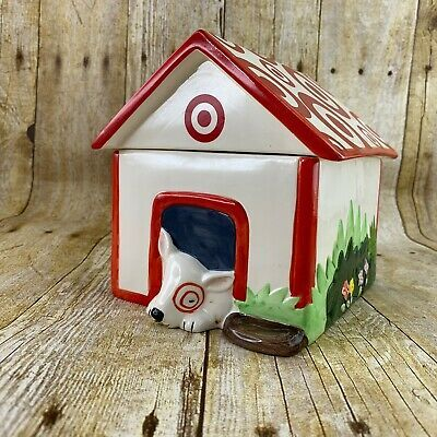 Details About Cookie Jar Bullseye Target Mascot Dog In Dog House