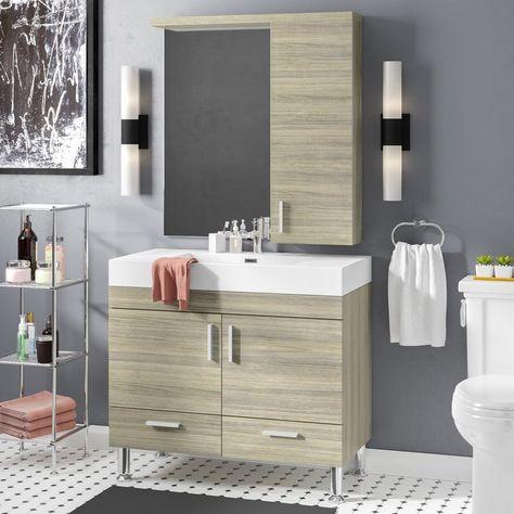 Modern Bathroom Vanity Set With Mirror