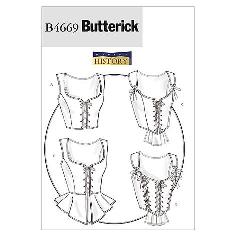 Misses Corset Butterick Sewing Pattern No 4669 Costume Sewing Patterns Corset Sewing Pattern Womens Sewing Patterns