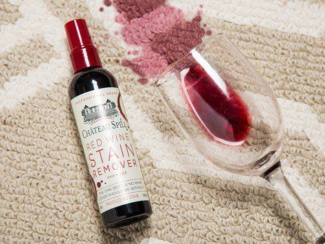 Château Spill Is A Red Wine Stain Remover That Works Like Magic On Spills Of Your Favorite Vintage As Well As B Red Wine Stains Wine Stain Remover Wine Stains