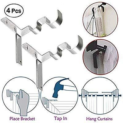 Single Curtain Rod Brackets Hanging Curtain Rods Curtain Rods