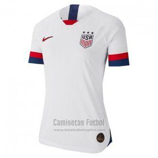 Camiseta Estados Unidos Primera Mujer 2019 Copa Mundial Femenino 2019 Futbol Replicas Camisetas Mundial Femenino Fútbol