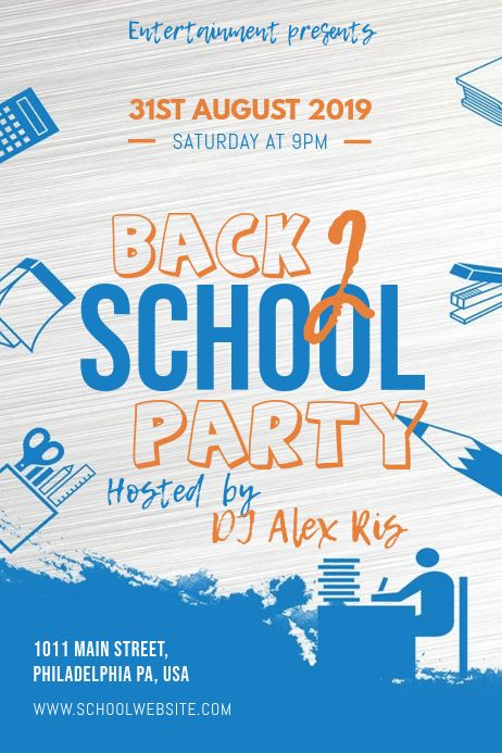 Party Flyer School Event Poster School Posters School Event Flyer