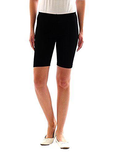 short noir coton femme