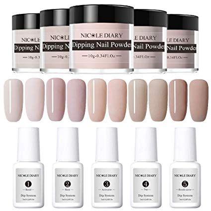 Amazon Com Nicole Diary Dipping Nail Powder Nail Starter Kit French Dip Acrylic Nails Powders System Liquid In 2020 Powder Nails Acrylic Nail Powder Acrylic Nail Kit
