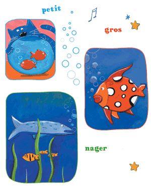 Petit Poisson Dans L'eau Comptine : petit, poisson, l'eau, comptine, Petits, Poissons, Comptines-chansons, Ranska