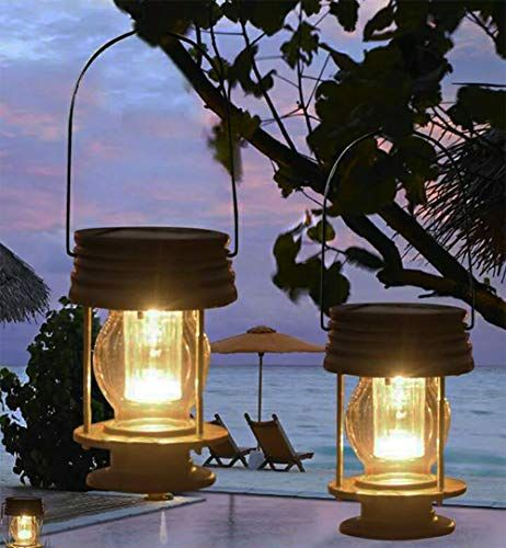 Obell Solaire A Suspendre Lanternes Lot De 2lampe De Jardin Exterieur Led Lampes Solaires Hanging Solar Lights Outdoor Solar Lanterns Outdoor Pathway Lighting