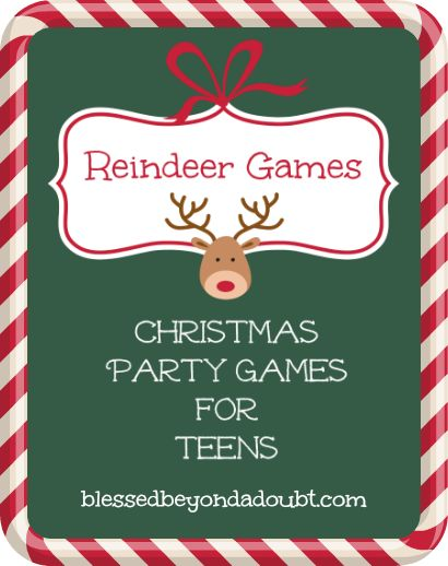 FREE Printable Christmas Party Games for Teens | Blessed Beyond a Doubt ~ These sound FUN!!!!